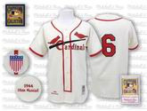 STAN MUSIAL St. Louis Cardinals 1944 &quot;Mitchell &amp; Ness&quot; Authentic Throwback Jersey