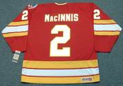 AL MacINNIS Calgary Flames 1989 CCM Vintage Throwback Away NHL Hockey Jersey
