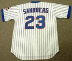 RYNE SANDBERG Chicago Cubs 1989 Majestic Cooperstown Throwback Home Jersey