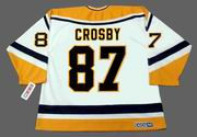 SIDNEY CROSBY Pittsburgh Penguins 1990's CCM Throwback Home NHL Jersey