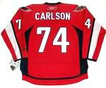 JOHN CARLSON Washington Capitals REEBOK Premier Home NHL Hockey Jersey