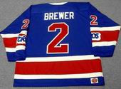 CARL BREWER Toronto Toros 1973 WHA Throwback Hockey Jersey
