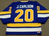 JACK CARLSON Minnesota Fighting Saints 1975 WHA Throwback Hockey Jersey