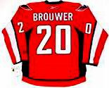 TROY BROUWER Washington Capitals REEBOK Premier Home NHL Hockey Jersey