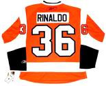 ZAC RINALDO Philadelphia Flyers REEBOK Home NHL Hockey Jersey
