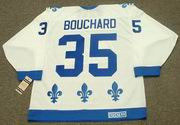 DAN BOUCHARD Quebec Nordiques 1984 CCM Vintage Throwback Home Hockey Jersey