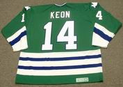 DAVE KEON Hartford Whalers 1979 CCM Vintage Throwback NHL Hockey Jersey