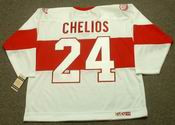 CHRIS CHELIOS Detroit Red Wings 1920's CCM Vintage Throwback NHL Hockey Jersey