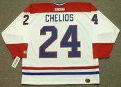 CHRIS CHELIOS Montreal Canadiens 1990 CCM Throwback Home NHL Jersey