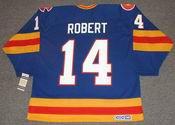 RENE ROBERT Colorado Rockies 1980 CCM Vintage Throwback NHL Hockey Jersey