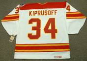 MIIKKA KIPRUSOFF Calgary Flames 1989 CCM Vintage Throwback Home NHL Hockey Jersey