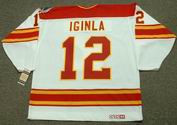 JAROME IGINLA Calgary Flames 1989 CCM Vintage Throwback Home NHL Hockey Jersey