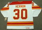 MIKE VERNON Calgary Flames 1989 CCM Vintage Throwback Home NHL Hockey Jersey