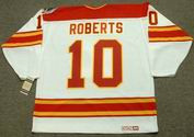 GARY ROBERTS Calgary Flames 1989 CCM Vintage Throwback Home NHL Hockey Jersey