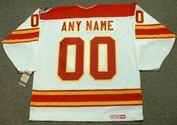 "CALGARY FLAMES 1989 CCM Vintage Throwback Home Jersey Customized ""Any Name & Number(s)"""