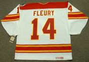 THEOREN FLEURY Calgary Flames 1989 CCM Vintage Throwback Home NHL Hockey Jersey
