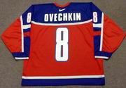 ALEXANDER OVECHKIN 2004 Team Russia Nike Olympic Throwback Hockey Jersey