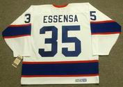 BOB ESSENSA Winnipeg Jets 1991 CCM Vintage Throwback Home NHL Hockey Jersey