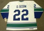 DANIEL SEDIN Vancouver Canucks 1970's CCM Vintage Throwback NHL Hockey Jersey