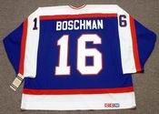 LAURIE BOSCHMAN Winnipeg Jets 1985 CCM Vintage Throwback NHL Hockey Jersey