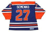 DAVE SEMENKO Edmonton Oilers 1985 CCM Vintage Throwback Away NHL Hockey Jersey