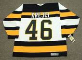 DAVID KREJCI Boston Bruins 1992 CCM Vintage Throwback Home NHL Hockey Jersey