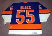JASON BLAKE New York Islanders 1970's CCM Vintage Throwback Away Hockey Jersey