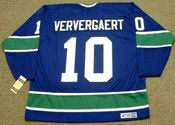 DENNIS VERVERGAERT Vancouver Canucks 1975 CCM Vintage Throwback Hockey Jersey