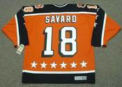 "DENIS SAVARD 1984 Campbell ""All Star"" CCM Vintage Throwback NHL Hockey Jersey"