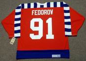 "SERGEI FEDOROV 1992 Campbell ""All Star"" CCM Vintage NHL Jersey"