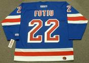 NICK FOTIU New York Rangers 1976 CCM Throwback Hockey Jersey
