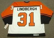 PELLE LINDBERGH Philadelphia Flyers 1985 CCM Throwback Home NHL Hockey Jersey