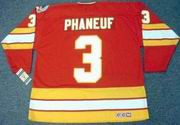 DION PHANEUF Calgary Flames 1989 CCM Vintage Throwback Away NHL Hockey Jersey