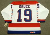 JOHN DRUCE Washington Capitals 1990 CCM Vintage Throwback Home NHL Jersey