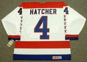 KEVIN HATCHER Washington Capitals 1990 CCM Vintage Throwback Home NHL Jersey