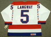 ROD LANGWAY Washington Capitals 1988 CCM Vintage Throwback Home NHL Jersey