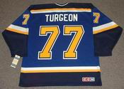 PIERRE TURGEON St. Louis Blues 1999 CCM Throwback NHL Jersey