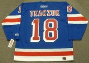 WALT TKACZUK New York Rangers 1972 CCM Throwback Away Hockey Jersey