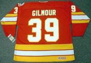 DOUG GILMOUR Calgary Flames 1989 CCM Vintage Throwback Away NHL Hockey Jersey