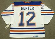DAVE HUNTER Edmonton Oilers 1985 CCM Vintage Throwback Home NHL Jersey
