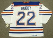 CHARLIE HUDDY Edmonton Oilers 1987 CCM Vintage Throwback Home NHL Jersey
