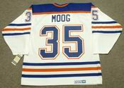 ANDY MOOG Edmonton Oilers 1985 CCM Vintage Throwback Home NHL Jersey