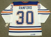 BILL RANFORD Edmonton Oilers 1990 CCM Vintage Throwback Home NHL Jersey