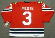 PIERRE PILOTE Chicago Blackhawks 1963 CCM Vintage Throwback NHL Jersey