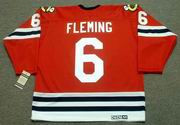 REGGIE FLEMING Chicago Blackhawks 1963 CCM Vintage Throwback NHL Jersey