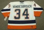 JOHN VANBIESBROUCK New York Islanders 2000 CCM Throwback Home NHL Jersey