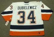 WADE DUBIELEWICZ New York Islanders 2007 CCM Throwback Home NHL Jersey