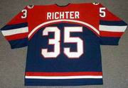 MIKE RICHTER 2002 USA Nike Olympic Throwback Hockey Jersey