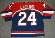 CHRIS CHELIOS 2002 USA Nike Olympic Throwback Hockey Jersey