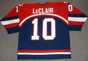 JOHN LeCLAIR 2002 USA Nike Olympic Throwback Hockey Jersey